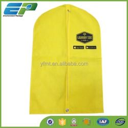 "Zippered Yellow Garment Bags - 40"" Suit"