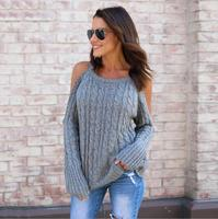 fashion color crochet acrylic knitted sweater ribbed jumper woman cable knit sweater