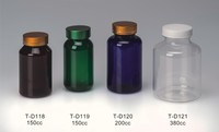 150ml Colored blue PET plastic containers pill bottle