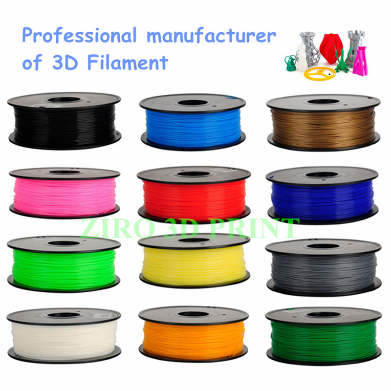 38 colors and OEM support 1.75mm 3.0mm PLA ABS HIPS filament for 3D printer