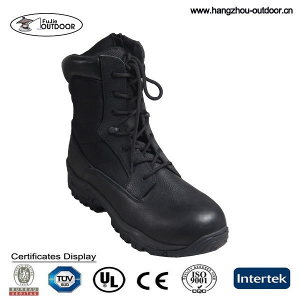 2015 Hotsale Cow Leather Combat Army Military Boots