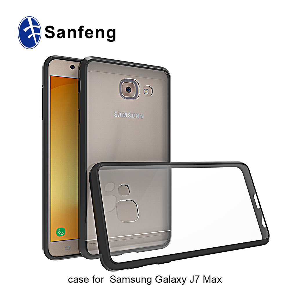 Ultra clear light weight tpu case for Samsung galaxy j7 max acrylic case