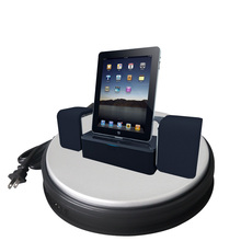 dia 25cm white /black Rotating Display Stand Turntable for iPad Mini NEW 360 Degree Rotating PU Leather Case Cover w Swivel base