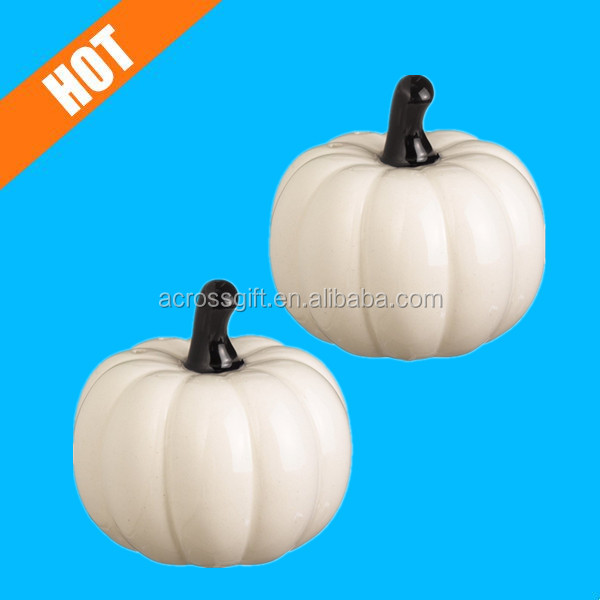 Halloween GLAZED white craft pumpkins for Sale