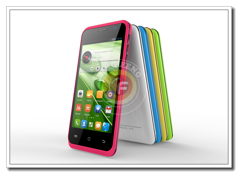 4.0INCH Touch Screen Mtk6580M Dual Sim Card Quad Core Lowest Price Android Phone S135