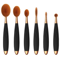 Hot Sale Foundation Cosmetics Oval Brush Tool Whirly Oval Makeup Brushes Set