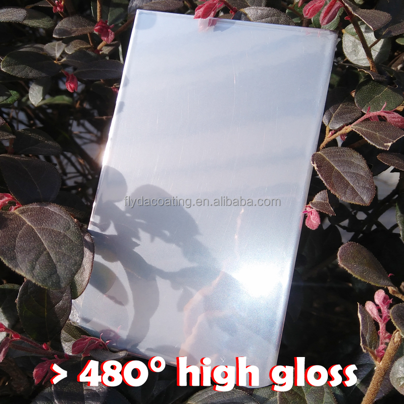 Super high gloss silver mirror chrome effect powder coating color paint
