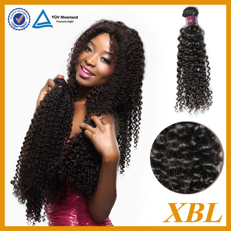 XBL unprocessed brazilian curly hair guangzhou xibolai hair products firm