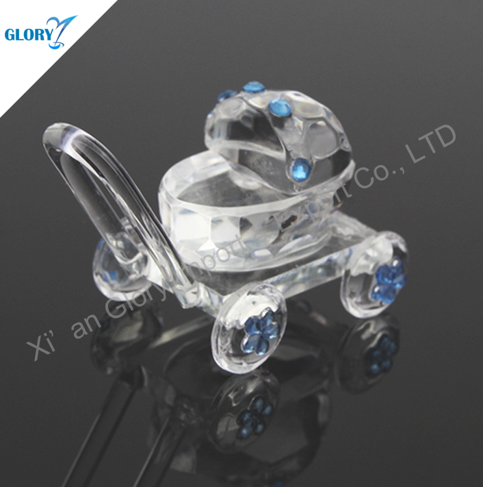 Wholesale Small Blue Crystal Candle Holder For Decor