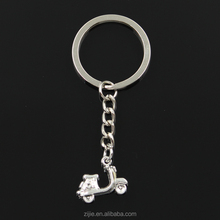 New fashion DIY men keychain 15*19mm motorcycle scooter autocycle Pendants Car Key Chain 30mm Ring Holder For Gift