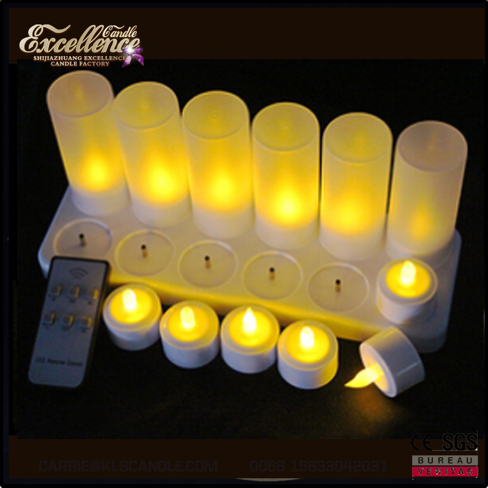 2017 hot sale rechargeable electric tea light led candle