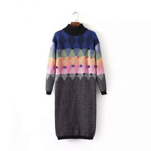 monroo fashion knitted Korean dress woman 2018 for winter