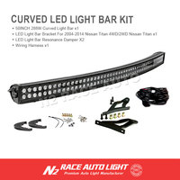 2016 hot sale off road 50inch 288w curved light bar kit cover black