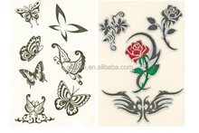 280 special design butterfly glitter body transfer tattoo stickers