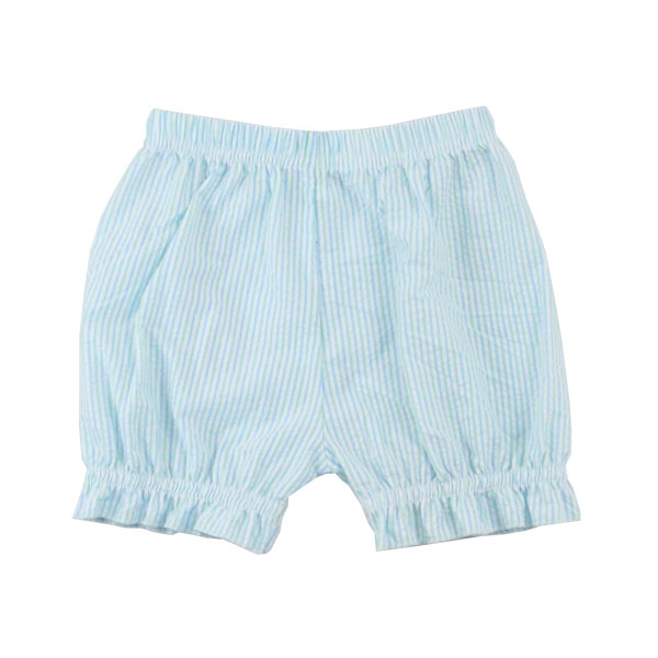 2017 wholesale boutique toddler clothes girl ruffle shorts seersucker girl shorts