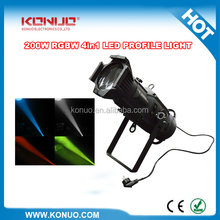 Super Bright Profile 200W COB 4in1 RGBW Ellipsoidal LED Leko Light