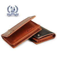 Bifold Men pure leather business card holder 2016 fashion card wallet