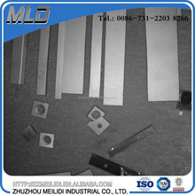 Cemented carbide strip rectangular shaped for making knife in paper cutting