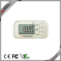 mini 3d pedometer with 15 memories, best choice for promotion gift