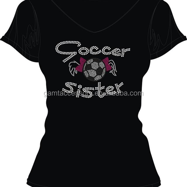 Soccer Sister Rhinestone Transfers Designs for T Shirts