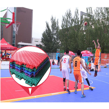2018 popular portable removable plastic tartan indoor and outdoor basketball court price