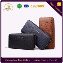 2017 new fashion genuine cow leather men wallet bifold wallet business coin pouch card wallet