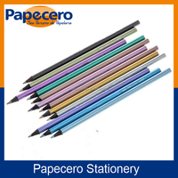 Papecero Non-Toxic Black Wood Metallic Color Pencil Set