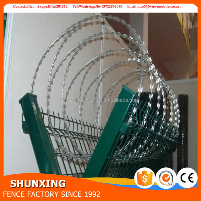 Galvanized Cheap BTO CBT Type Military Concertina Wire Razor Blade Wire