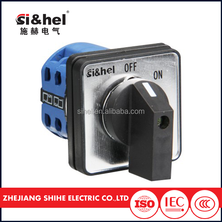 CE approval china factory 1 2 3 4p 0-1 1-0-2 on off rotary changeover switch