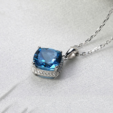 natural london blue topaz 925 sterling silver pendant gemstone gemstones jewelry