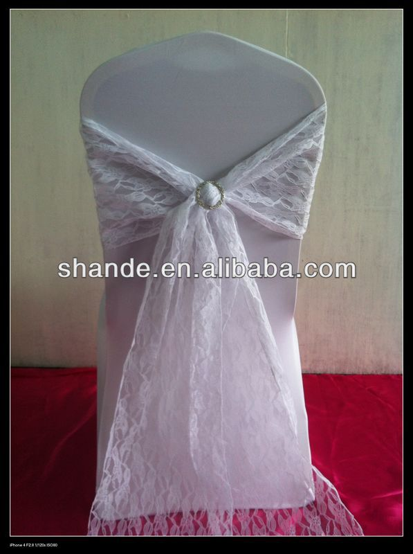 2013 NEW unquic and luxury lace chair cover sash