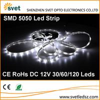 Buy DC12V SMD 5050 60LEDS RGB 14.4w/m high brightness white pcb ...