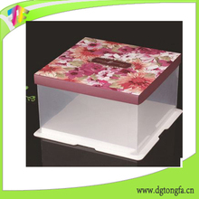 High quality fashion Cupcake Box PVC Window Cup Cake Boxes For Wedding Muffin Display