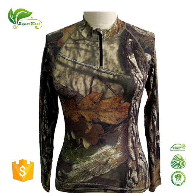 Merino Wool Men's Long Sleeve Hunter Shirt