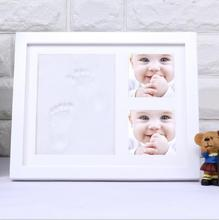 Baby Cute Creative White Picture Photo Frame Handprint Footprint Best Gift for Baby Children