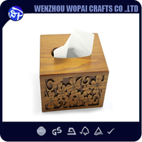 New arrive engraving wood box tissue box house using Facial Tissue box