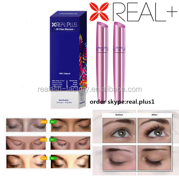 Newly name brand wholesale distributors wholesale REAL PLUS 3D Color fiber mascara