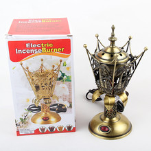 New Arrival Classic antique plated gold with coconut tree alloy incense burners