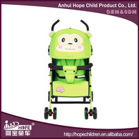 Lovely pet monkey baby stroller type and stainless steel frame material baby buggy made in china