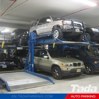 PJS two post parking garage/two storey parking system/underground automatic car lift