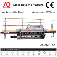 glass grinder machine / Glass bevel grinding machine ADXM271A