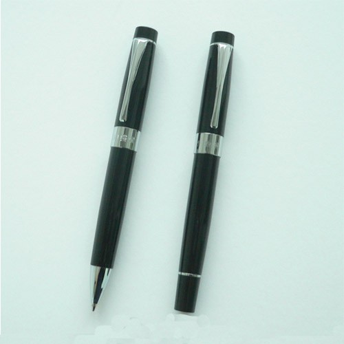 High-End Custom Logo Promotional Metal Ballpoint Pen And Roller Pen/Sign Pen/Gel Pen Set