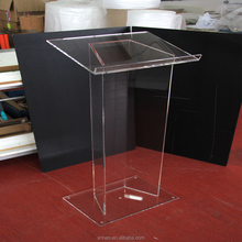 Simple Struture Clear Acrylic Lectern Podium Stand Custom Made