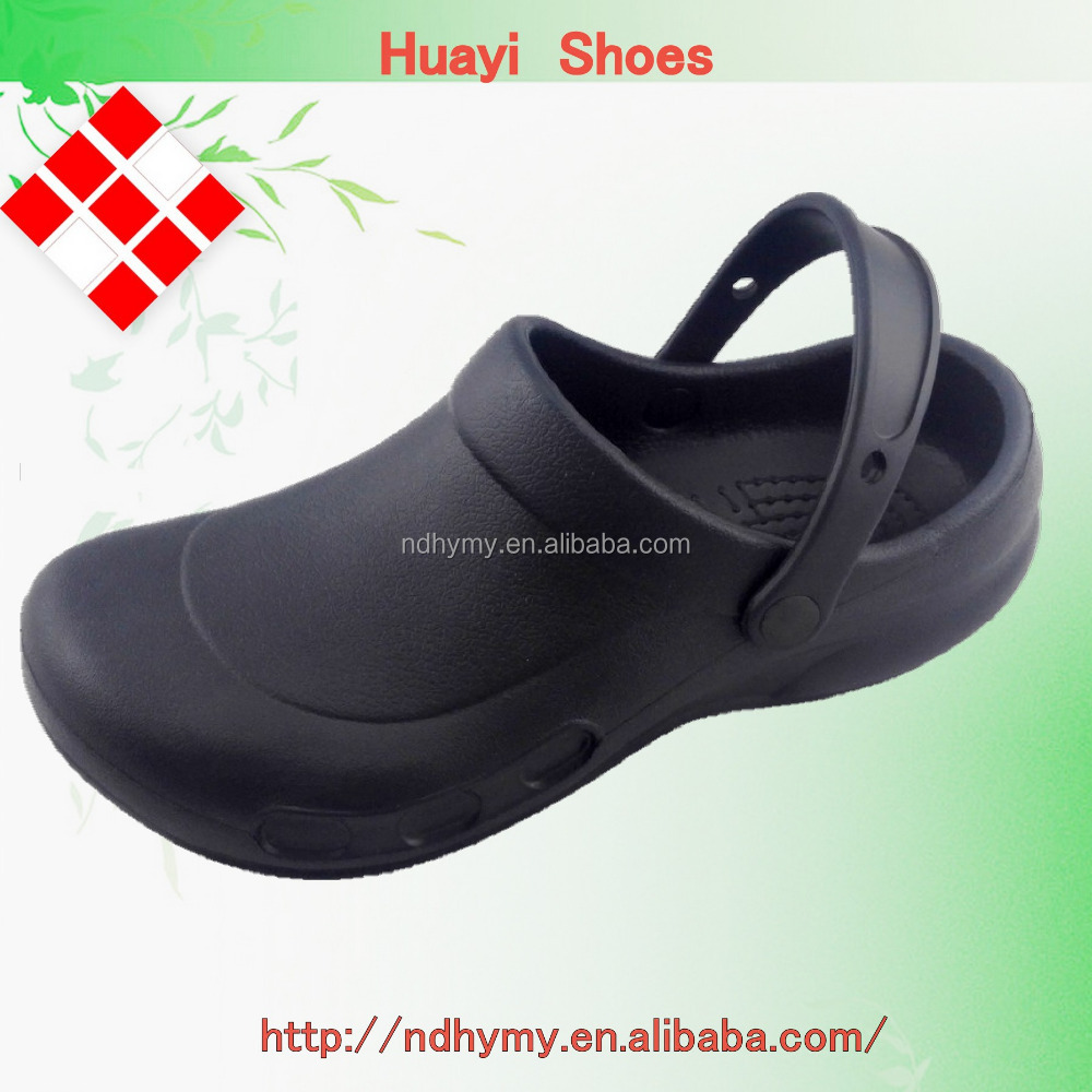 high quality anti slip rubber sole clogs medical