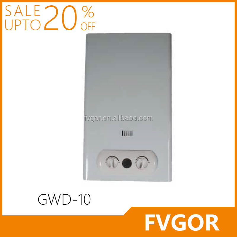 GWD-10 FVGOR Factory 6-16L White coated panel instant gas water heater Gas geyser instant shower water heater