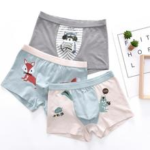 Good Quality Water Print Boxer Teen Boys Fashion Kids Boy in Underwear Pictures