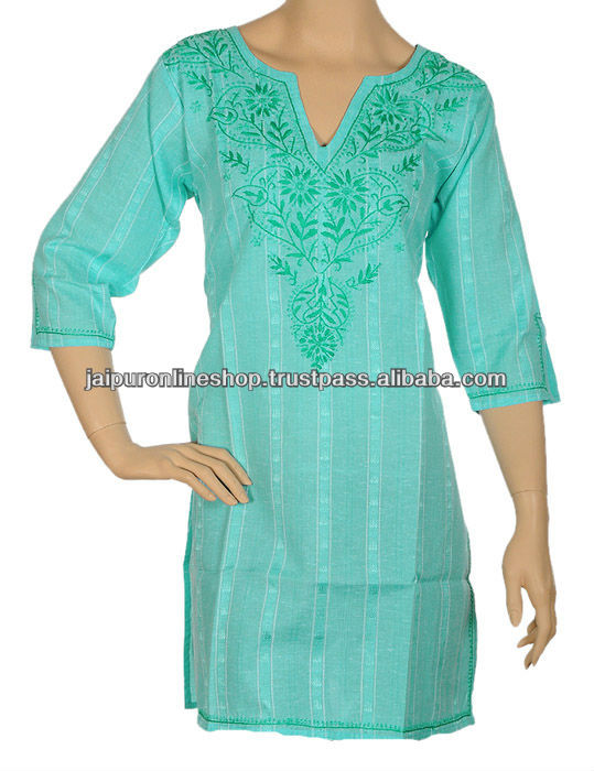 Shop by Chikankari Art Style | Kurti | Chikankari tops