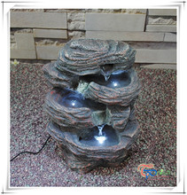 Decorative Resin Mini Indoor Outdoor Artificial Waterfall Tabletop Water Fountain