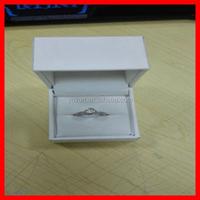 Free Sample Making Antique Style Leather PU Velvet Plastic Custom Wedding Engagement Ring Jewelry Box Wholesale
