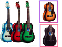 FOR BEGINNER 30 INCH promotional guitar cheap price, 5 colors, Chinese good product